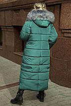 Женское пальто - пуховик из плащевки,с эко-мехом 48-58, фото 3