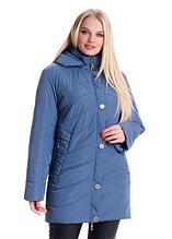 Женская демисезонная куртка большие размеры рр 58. 60. 62