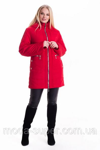 Женская демисезонная куртка большие размеры рр 54-70