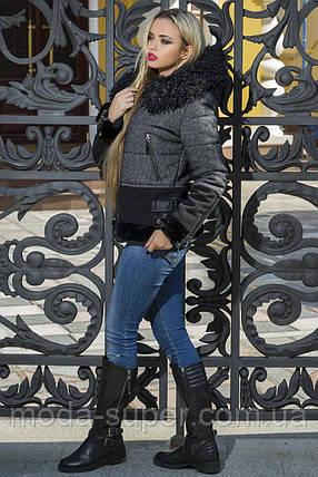 Зимняя женская куртка с меховыми вставками рр 42-48, фото 2