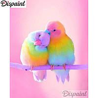Алмазная мозаика выкладка стразами Попугаи цветные (полная выкладка) 25*20 см