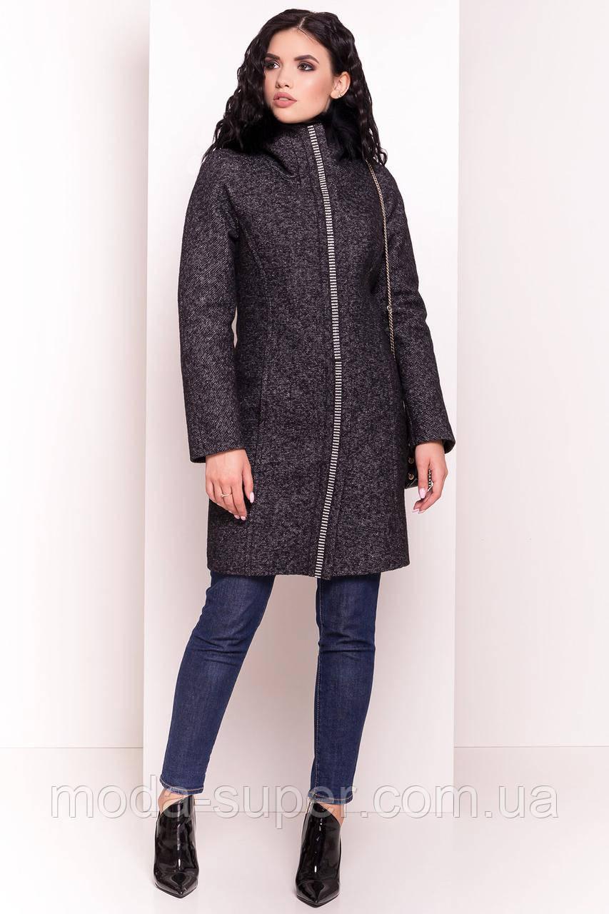 Классическое полу приталенное пальто сезон зима,размер S