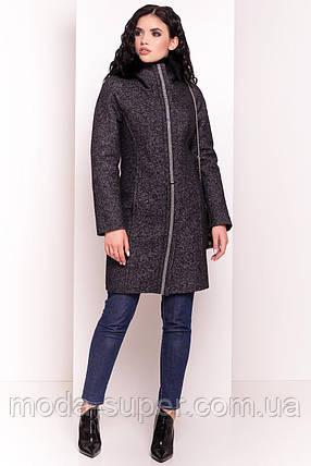 Классическое полу приталенное пальто сезон зима,размер S, фото 2