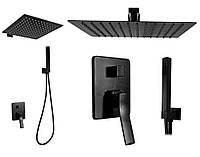 Душевой комплект набор REA SONIC BLACK REA-P0369 душевая система, тропический душ (душовий набір)