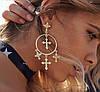 Серьги кресты , серьги кольца, бижутерия, фото 2