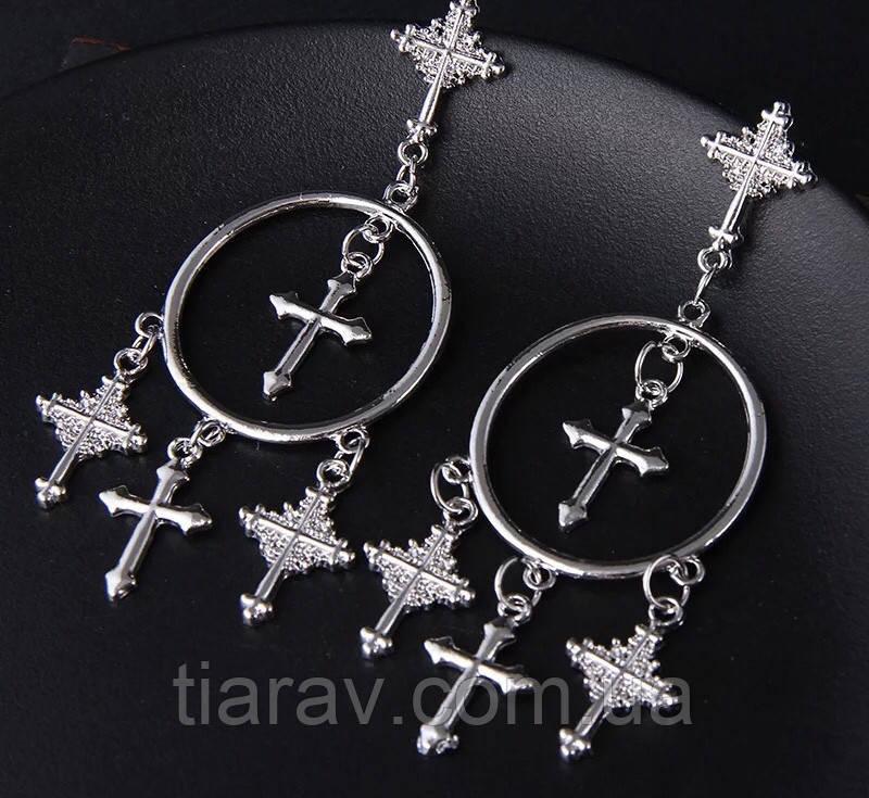 Сережки хрести , сережки кільця, біжутерія