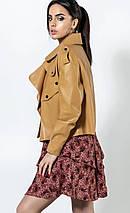 Женская куртка-косухастильная молодежная  из эко-кожи рр S  M  L, фото 3