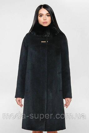 Женское зимнее пальто с мехом песца,рр 44-58, фото 2