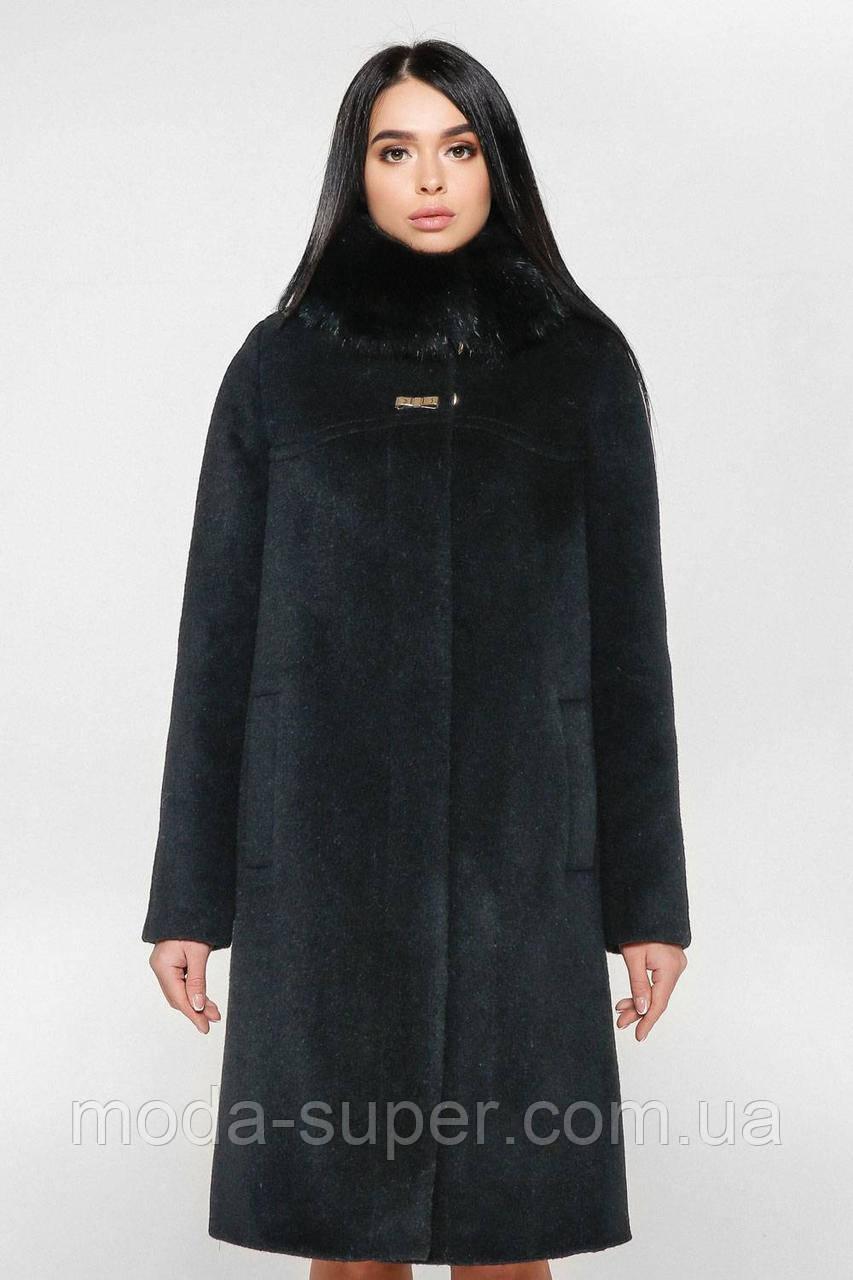Женское зимнее пальто с мехом песца,рр 44-58