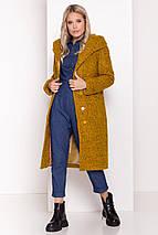 Зимнее женское пальто из ткани букле, фото 2