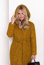 Зимнее женское пальто из ткани букле, фото 3