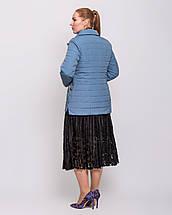 Женская куртка-пиджак с шарфом цвет джинс  рр 48-60, фото 3