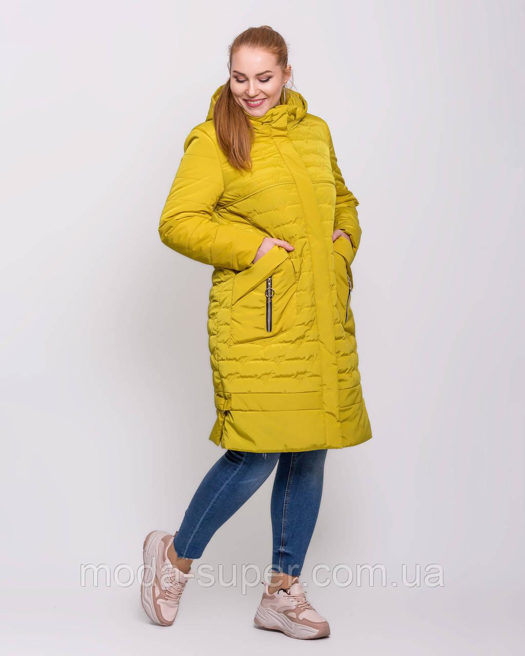 Женская куртка с сьемным капюшоном  рр 50-62