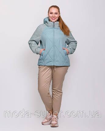 Женская куртка комбинированная   рр 48-58, фото 2