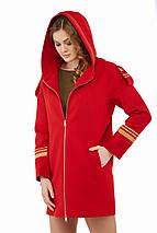 Женское пальто на молнии и с капюшоном рр 46-52, фото 2