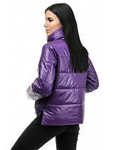 Женская куртка демисезон из плащевки лаке  рр 42-48, фото 2