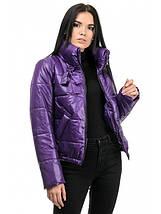 Женская куртка демисезон из плащевки лаке  рр 42-48, фото 3