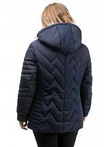 Женская куртка полуприталенного силуэта синего цвета рр 50-56, фото 3