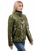 Женская куртка деми с воротником стойка  рр 42-46, фото 3