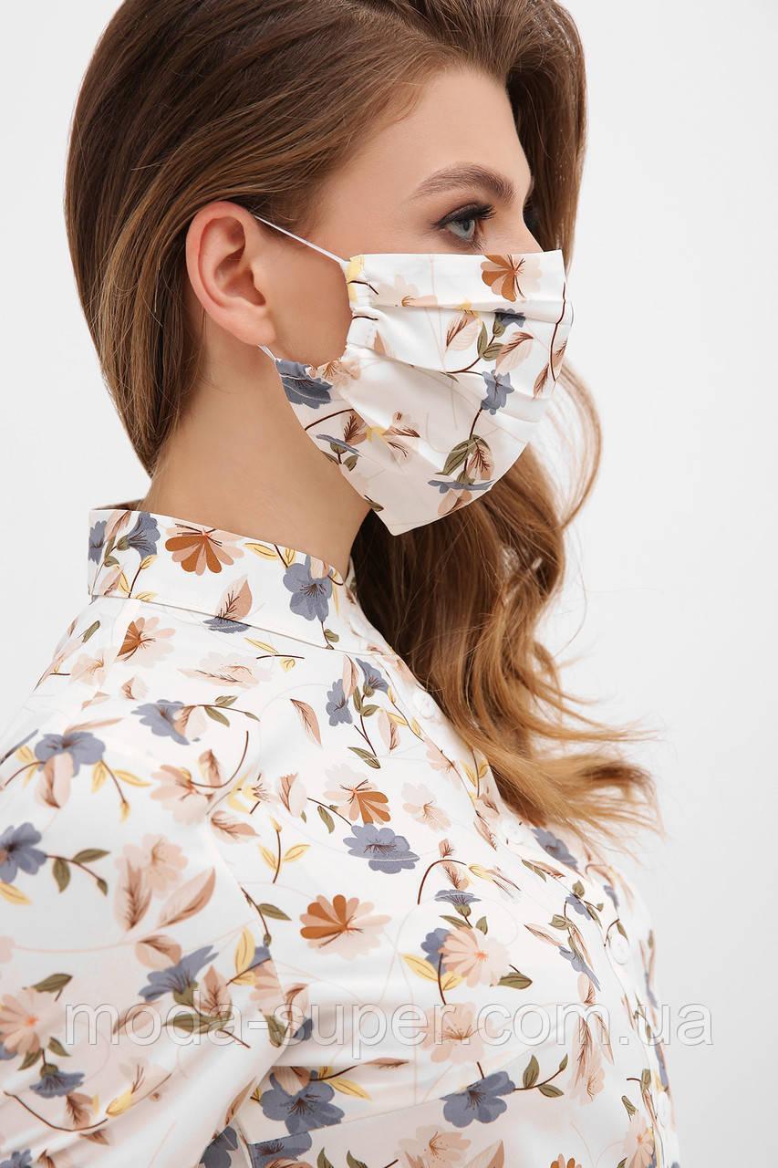 Защитная маска для лица двухслойная