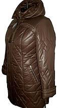 Стильная  куртка больших размеров рр 60-66, фото 3