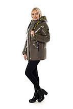 Жіноча зимова куртка з лакової плащової тканини рр 46-56, фото 2