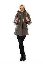 Жіноча зимова куртка з лакової плащової тканини рр 46-56, фото 3