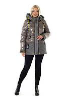 Женская зимняя куртка из лаковой плащевки  рр 46-56