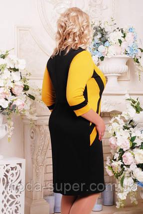 Платье женское из французского трикотажа комбинированное, фото 2
