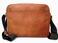Кожаная мужская сумка ручной работы коричневого цвета Tsar.store