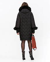 Женская зимняя куртка с мехом из водоотталкивающей плащевки 44-52рр, фото 2