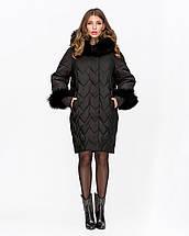Женская зимняя куртка с мехом песца 44-52рр, фото 3