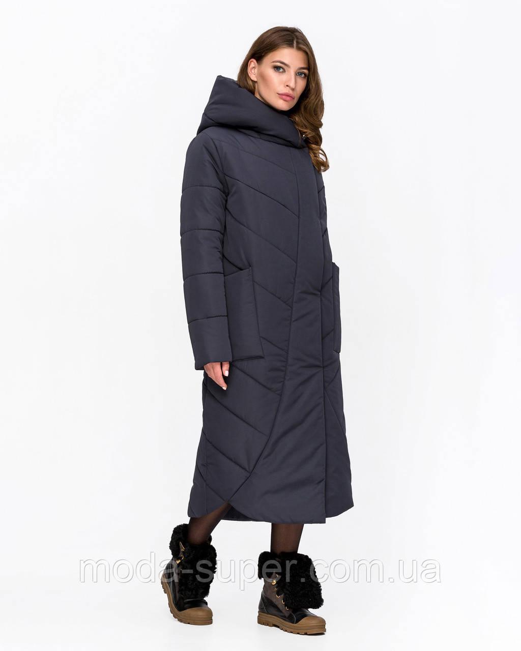 Длинная зимняя куртка-одеяло рр 44-58