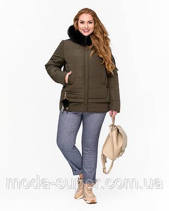 Коротка зимова куртка молодіжна рр 42-52, фото 2