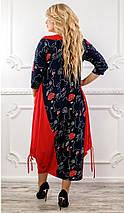 Женское платье комбинированное,свободного кроя рр 48-76, фото 3