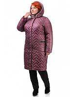 Женское зимнее слегка приталенное пальто рр 52-60
