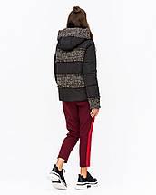Женская куртка комбинированная с твидом рр 42-50, фото 3