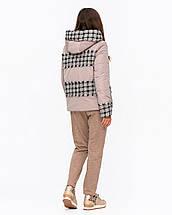 Жіноча куртка комбінована з твидом рр 42-50, фото 3