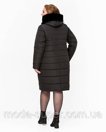 Зимова куртка із штучним хутром мутон рр 52-64, фото 2