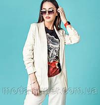 Стильный костюм из ткани лен  рр S-XL, фото 3