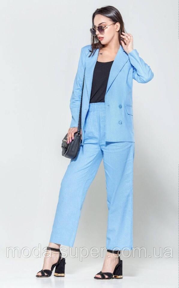 Стильный легкий костюм из ткани лен  рр S-XL