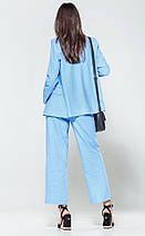 Стильный легкий костюм из ткани лен  рр S-XL, фото 2