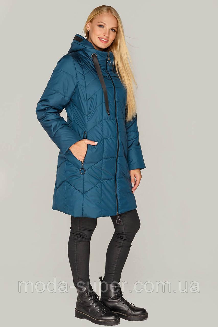 Куртка женская  удлиненная большие размеры рр 50-60