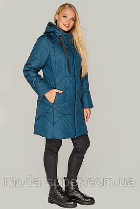 Куртка женская  удлиненная большие размеры рр 50-60, фото 2