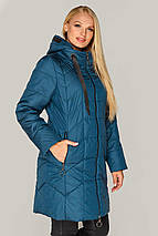 Куртка женская  удлиненная большие размеры рр 50-60, фото 3