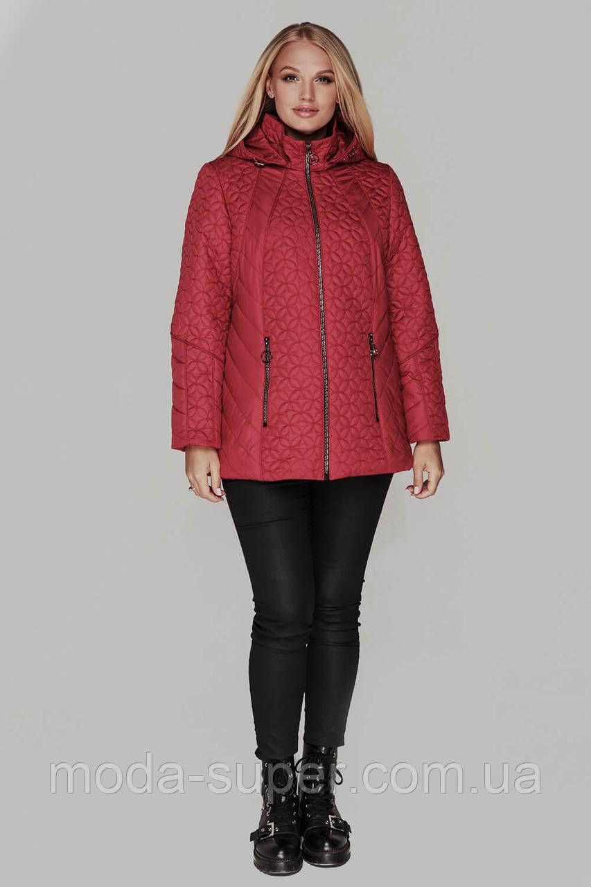 Жіноча демісезонна куртка великі розміри 50-60 рр
