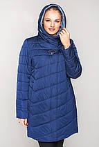 Женская  куртка с вшитым капюшоном большие размеры рр 50-60, фото 3