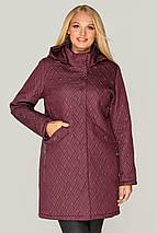 Жіноча куртка з з'ємним капюшоном рр 48-60, фото 2