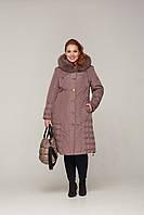 Зимняя  куртка - пуховик с мехом песца рр 48-60