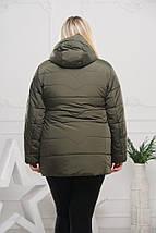 Женская куртка с отстежным капюшоном рр 50-64, фото 2